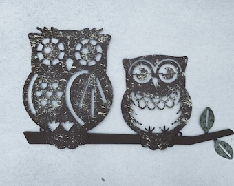Good Metal Wall Art / Owl Home Decor / Owl Wall Art / Owl Wall Decor / Owl Wall  Hanging / Metal Wall Decor / Metal Leaf Decor / Metal Wall Art