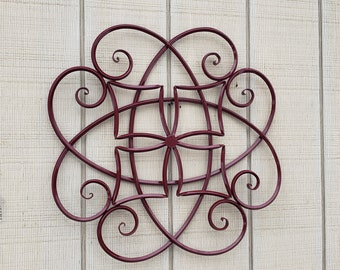 Large Iron Wall Art Metal Decor Cranberry Wrought Garden Home