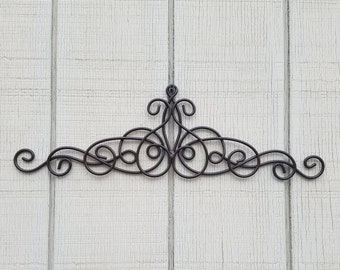 Metal Wall Art, Brown Home Decor, Iron Wall Art, Brown Metal Wall Decor, Metal  Wall Decor, Metal Scroll Decor, Small Wall Art, Espresso