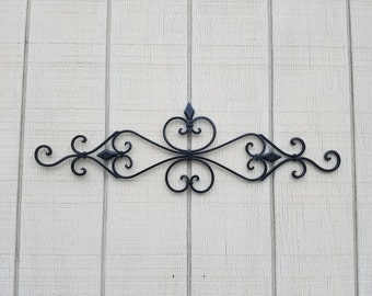 Metal Wall Decor, Swirl Wall Art, Headboard, Fireplace Decor, Home Decor,  Wrought Iron Decor, Kitchen Decor, Iron Home Decor, Black Metal