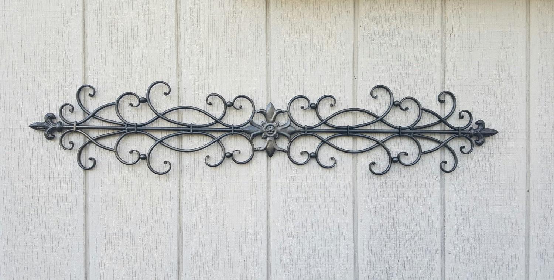 wrought iron wall art metal wall art large metal wall art etsy. Black Bedroom Furniture Sets. Home Design Ideas