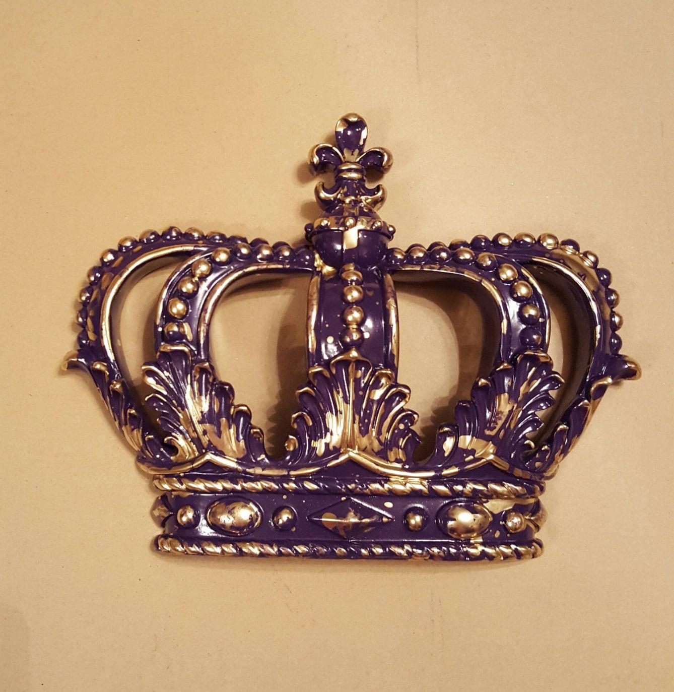 Bed Crown Canopy Crib Crown Nursery Design Wall Decor: Purple Gold Crown Wall Decor Nursery Decor Crib Crown