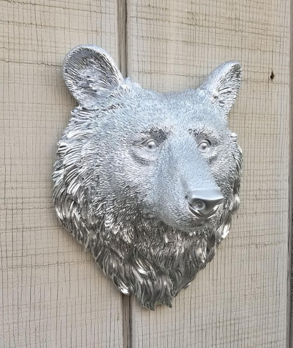 Bear Head Wall Decor / Bear Head Wall Hanging / Bear Wall Art   Etsy