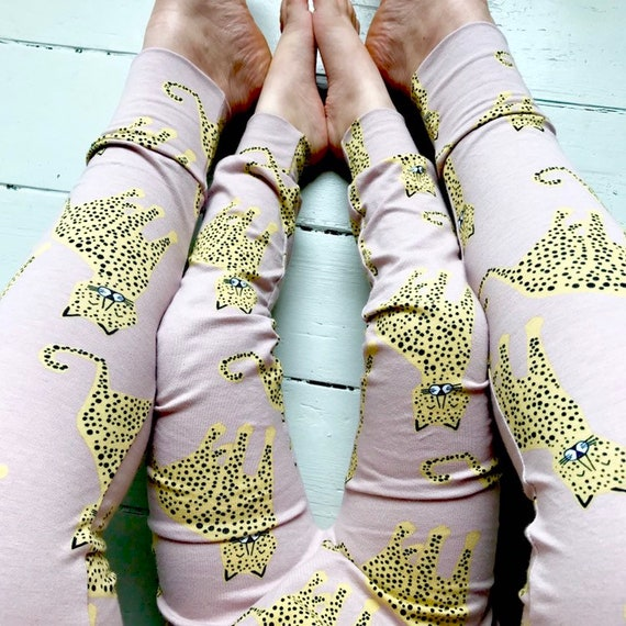 Eddie & Bee limited edition  adult organic cotton leggings.