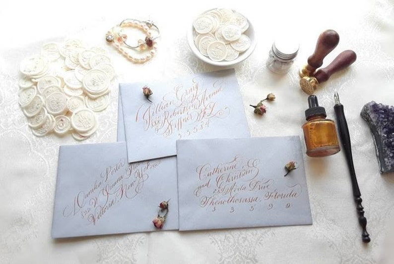 Handwritten Budget Calligraphy Envelope Addressing Fill-ins Only