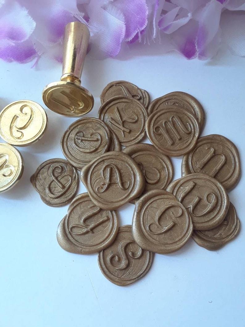 Alphabet Script Initials A to Z wedding party invitation self adhesive wax seal peel sticker 34