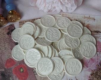 With Love wax seal wedding wax seal calligraphy