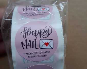 Happy Mail Stickers Business stickers Small business stickers