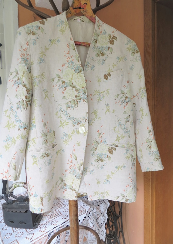 Franco Callegari vintage jacket, Linen coat with f