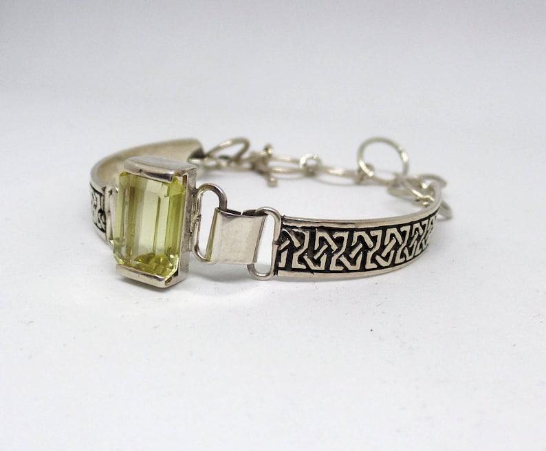 Celtic November Birthstone 1535 Ladies Citrine Citrine Bracelet Jewelry Sterling Silver Citrine Link Bracelet Ladies Citrine Bracelet