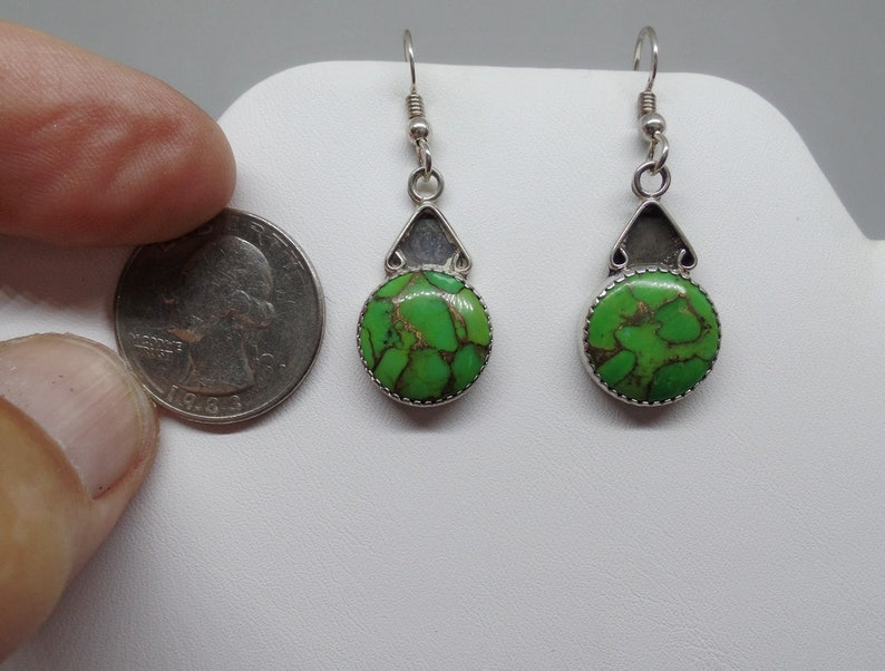 Under 50 Ladies Turquoise Earrings Turquoise Earrings Green Copper Turquoise Earrings Green Turquoise Earrings Gift For Her 1786