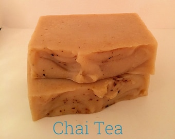 Chai Tea, Goats Milk Soap, Seasonal, Handmade, Palm Oil Free, No Animal Tallow, Holiday, Office Gifts, Teacher Gifts