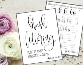 Brushlettering Practice Pages for Lowercase Alphabet