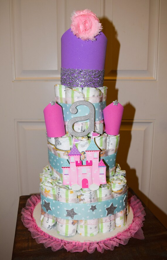 Prinzessin Schloss Windel Kuchen Prinzessin Etsy