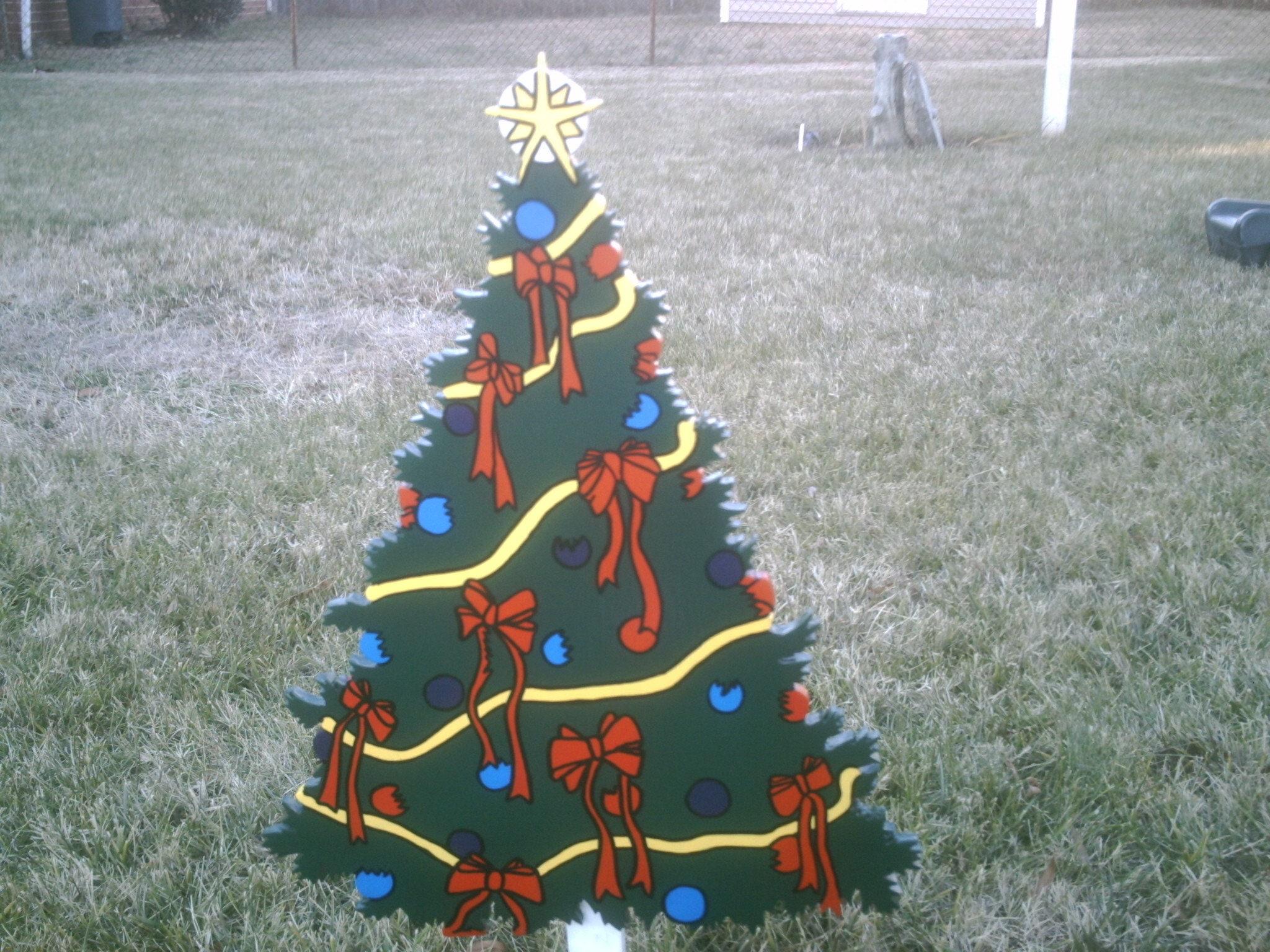 Weihnachtsbaum mit Batterie betrieben LED-Leuchten Yard Art | Etsy