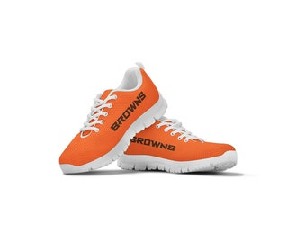 best service 014b3 011ba Cleveland Browns Themed Casual Athletic Running Shoe Sneaker Mens Womens  Sizes Dawg Pound Apparel Gifts Shoes for Men Women