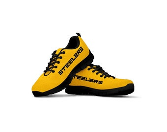 3ae0938daabd Pittsburgh Steelers Themed Casual Athletic Running Shoe Mens Womens Sizes  Steeler Apparel and Gifts for Men and Women