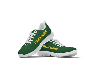 timeless design f13cd 2e980 Green Bay Packers Helmet Themed Casual Athletic Running Shoe Mens Womens  Sizes Apparel and Gifts for Men and Women