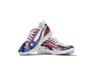 9e959c4f41e9 American Flag Themed Casual Athletic Running Shoe Sneaker Mens Womens Sizes  Apparel Gifts Shoes for Men Women