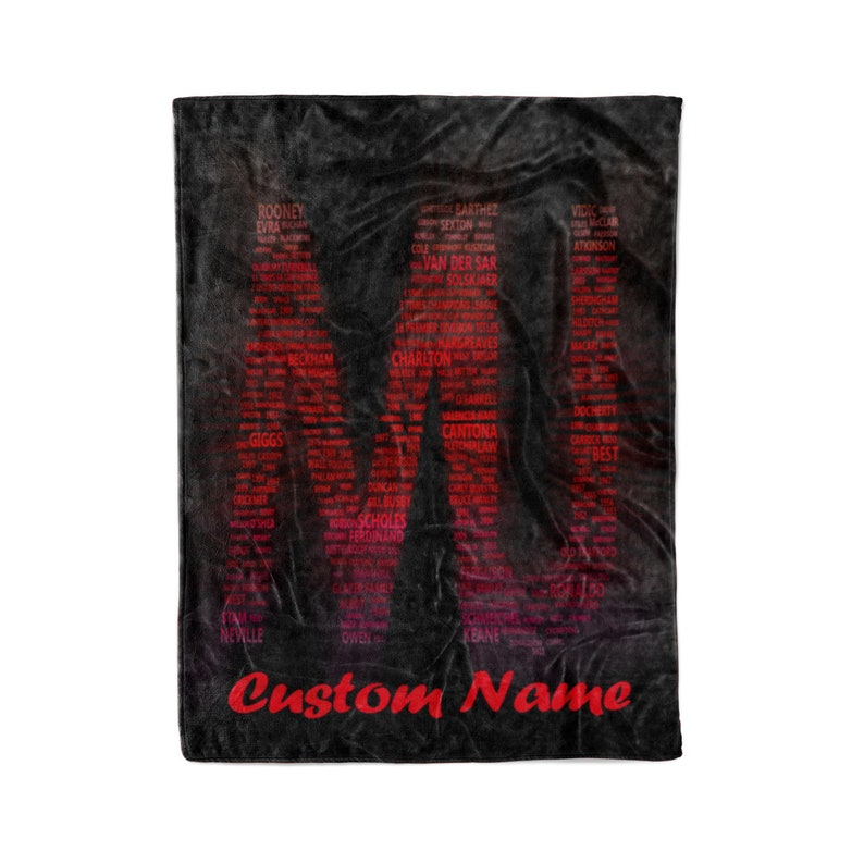 MANCHESTER UNITED CLUB ~MUFC FAN ~PERSONALISED CUSHION~ MEN/'S GIFT ~ NAME