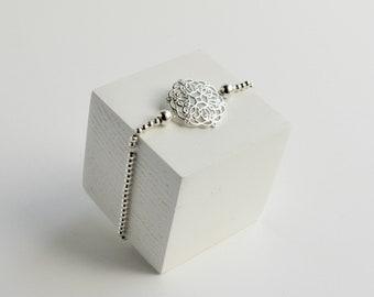Silver Bead Bracelet | Silver 925 | Ornament | Silver Beads | stretchable | Friendship Bracelet | Costume Jewellery | Silver Bracelet |