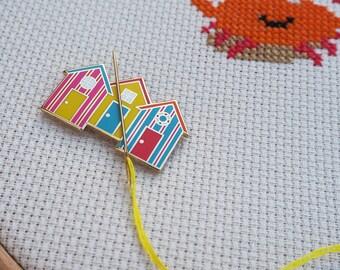 Handmade Needle Minder Keeper Cross Stitch Beach chairs with umbrella