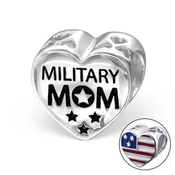 bfbb75f99 Military Mom Sterling Silver Pandora Charm | Etsy