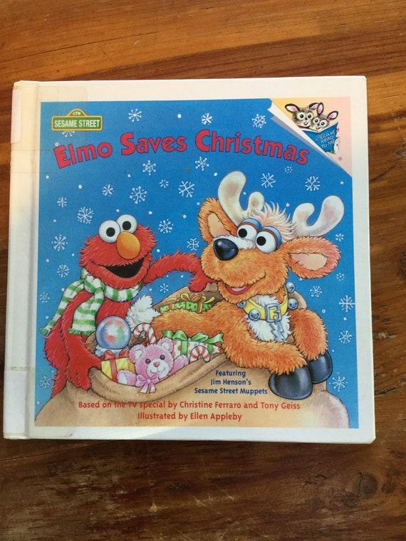 Elmo Saves Christmas.Elmo Saves Christmas Vintage Hardcover Children S Book
