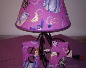 Princess Sofia and Friends lamp set