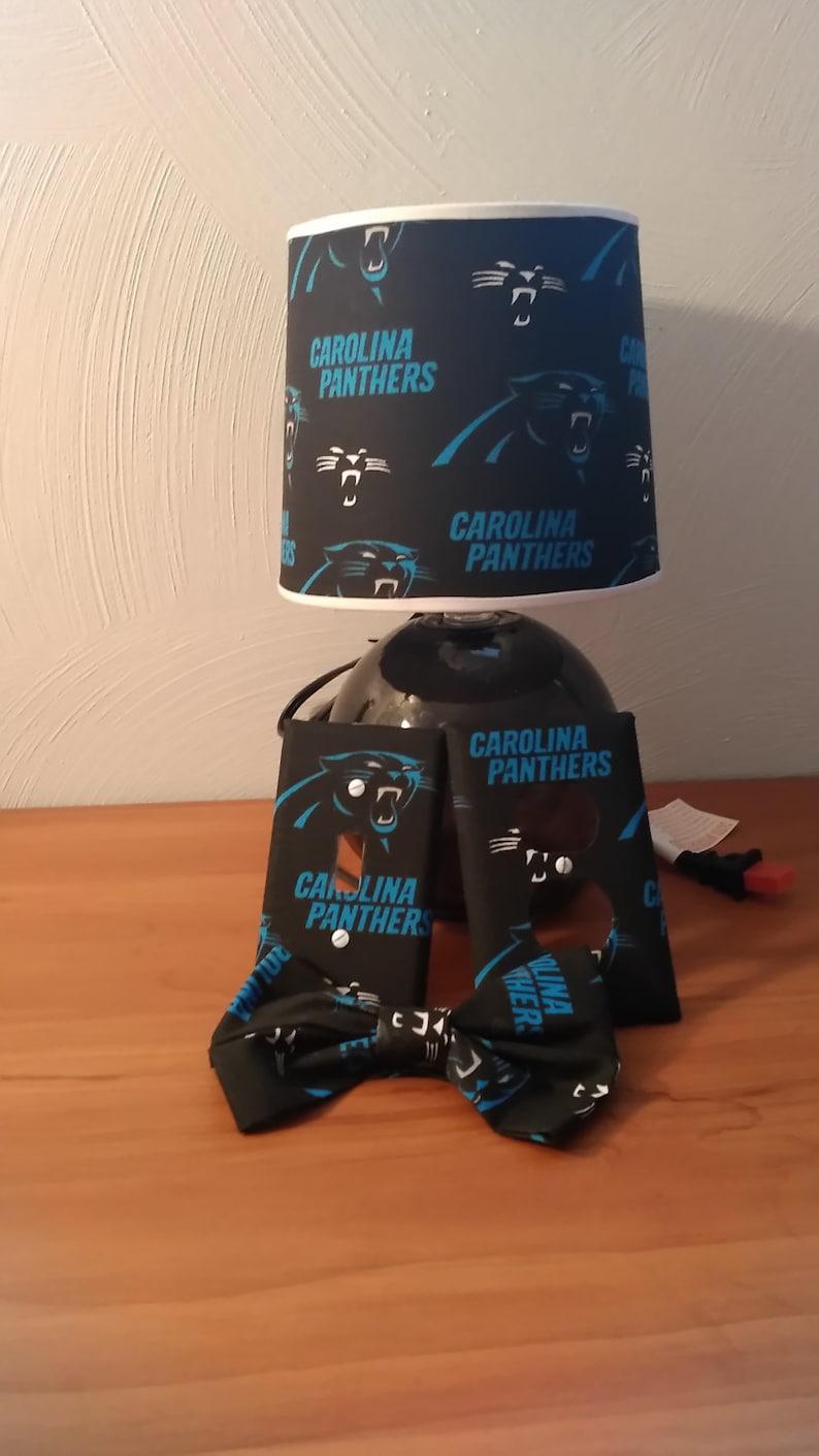 53cf1d54 Carolina Panthers lamp set
