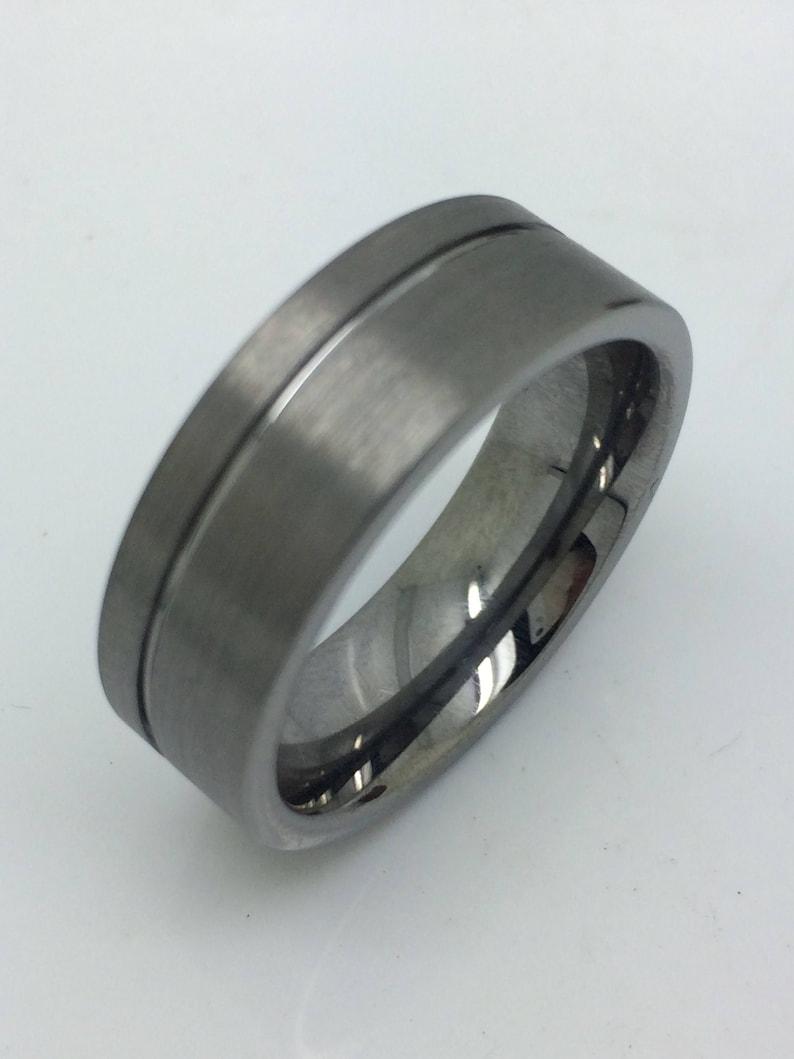 Men/'s wedding band,Tungsten wedding ring, Groove wedding band,Tungsten wedding ring,Tungsten Carbide groove ring,Men/'s ring,free engraving