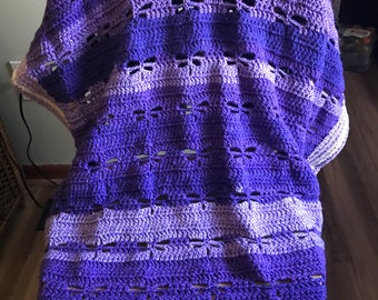 Plum and Grape Dragonfly Afghan