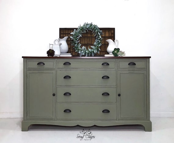 Vintage Buffet Sideboard hand painted. Modern Farmhouse Credenza buffet on hand carved buffet, dining room buffet sideboard, antique french sideboard, french style sideboard, pine sideboard, pennsylvania house sideboard, hand painted vintage sideboard cabinet oriental,