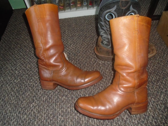 Vintage Frye BLACK LABEL Campus Boots Harness Moto