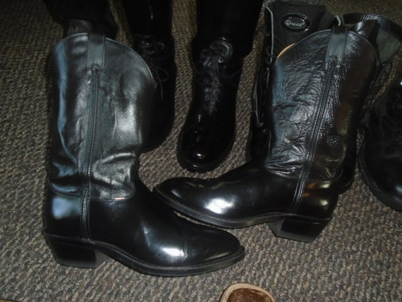 Men's Justin Cowboy Boots HIGH SHINE Motorcycle Bo