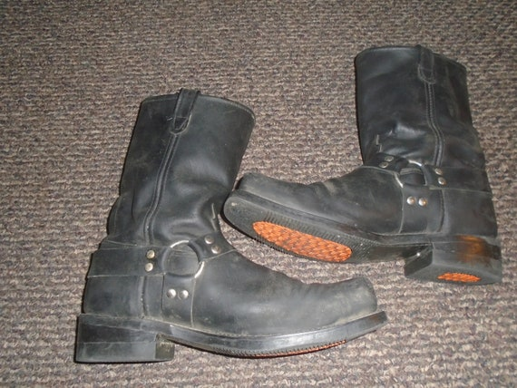 Men's USA TRASHED Harness Boots Motorcycle Boots G