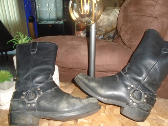 Men's TRASHED Harness Boots Motorcycle Boots GRUNG