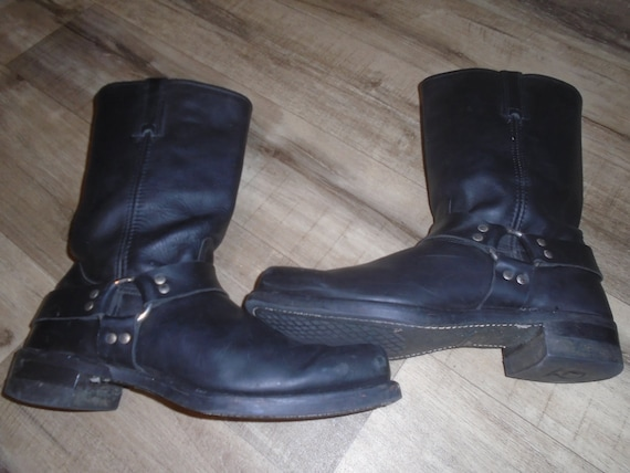 Men's TRASHED Frye Harness Boots Motorcycle Boots