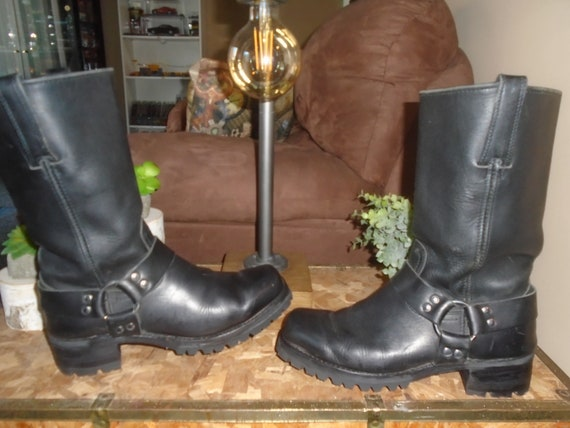 Frye Harness Boots THICK VIBRAM SOLES Engineer Boo