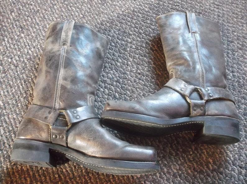 bca649a00972b Men's GAUCHO Frye Harness Boots Motorcycle Boots GRUNGE Biker Boots  engineer boots