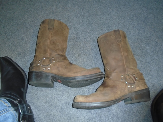 Men's GAUCHO Harness Boots Motorcycle Boots GRUNGE