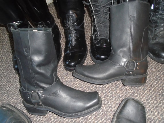 Men's Harness Boots Motorcycle Boots GOTH GRUNGE R