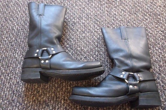 Men's Vintage FRYE Harness Boots Motorcycle Boots