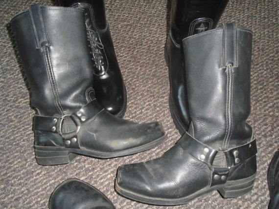 Men's FRYE TRASHED Harness Boots Motorcycle Boots