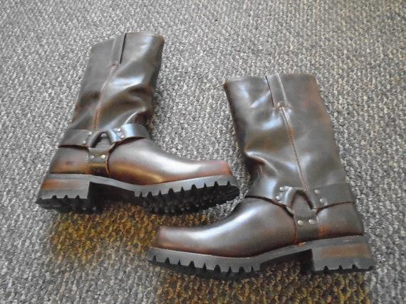 Frye ADDISON HARNESS LUG Harness Boots Frye 12r Ha