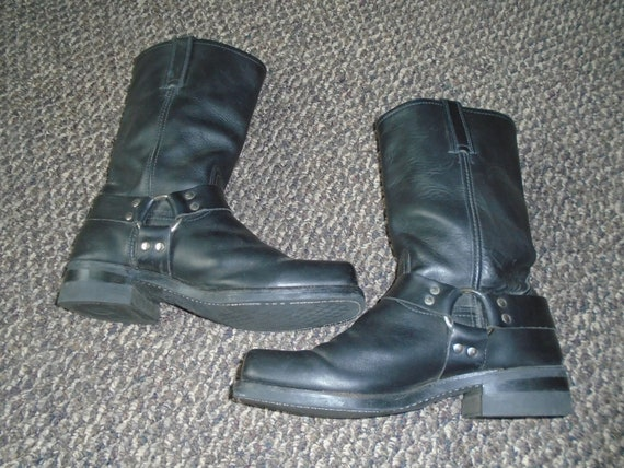 Men's FRYE HARNESS BOOTS Motorcycle Boots Grunge R