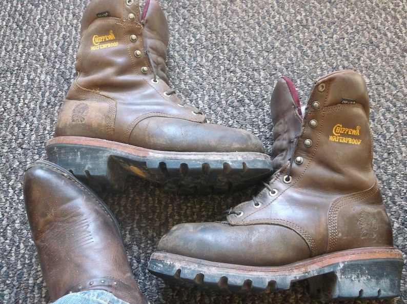 fff248349f5 Chippewa Bay Apache SUPER Logger Boots work boots STEAL TOE 25410
