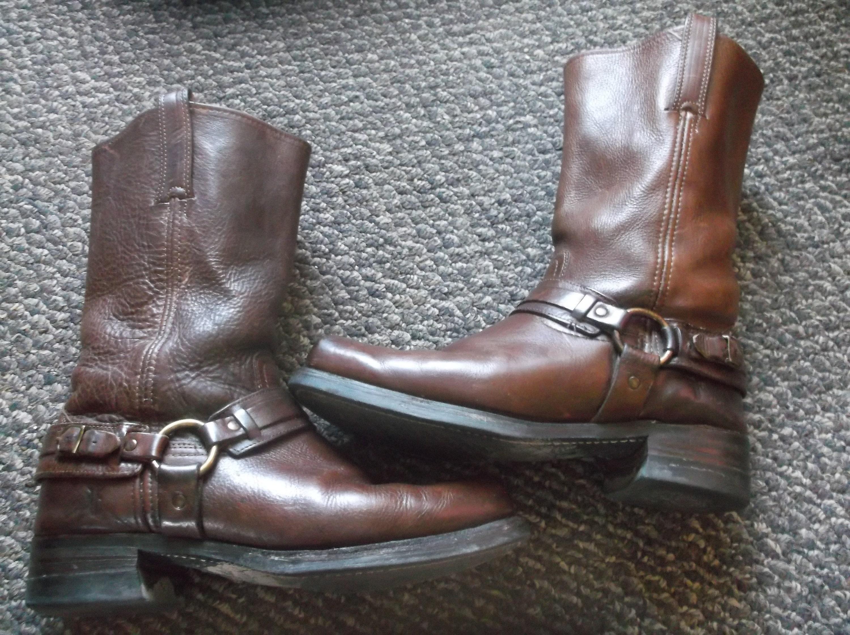6c8cbffe9493d Men's Frye GAUCHO Harness Boots Motorcycle Boots GRUNGE Biker Boots  engineer boots