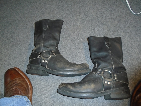 Men's TRASHED ROCKER Harness Boots Motorcycle Boot