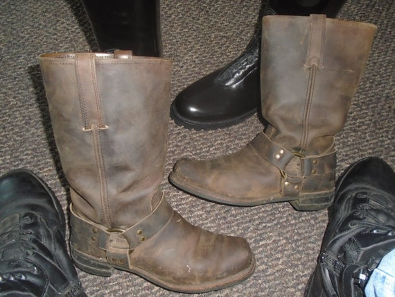 Men's FRYE GAUCHO Harness Boots Motorcycle Boots G